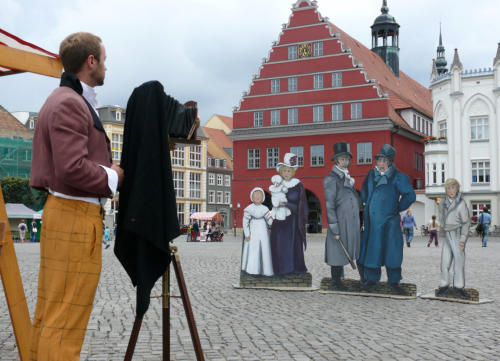 Romantik Fotoaktion mit Fotofiguren
